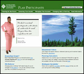 Diversified Plan Participant Homepage